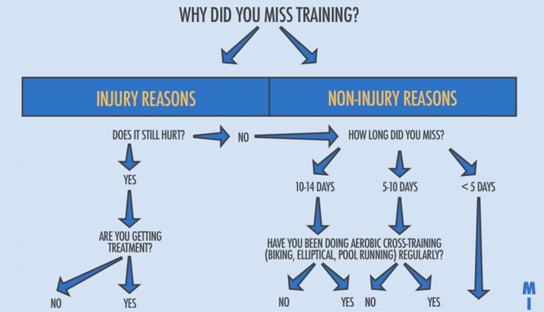 flowchart how to adjust after missed training - Flowchart Training